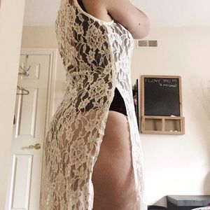Vintage lace cover up